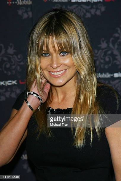 Actress Carmen Electra arrives at the TMobile Sidekick LX Launch Party held at Griffith Park's Harding and Wilson Golf Course on October 16 2007 in...