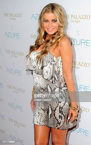 Actress Carmen Electra arrives to host Stereo Loves Saturday at the Azure pool at The Palazzo on August 13 2011 in Las Vegas Nevada