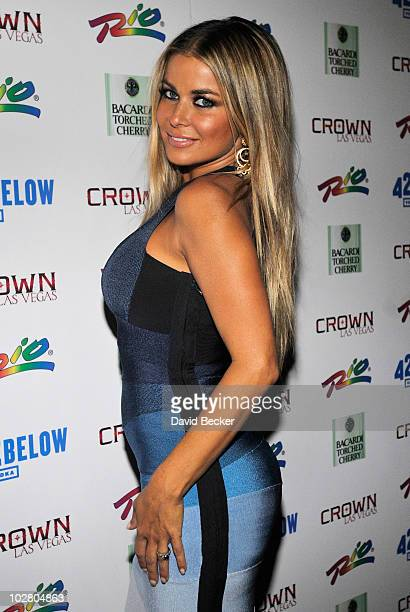 Actress Carmen Electra arrives to hosts an evening at the Crown Nightclub at the Rio Hotel Casino on July 10 2010 in Las Vegas Nevada