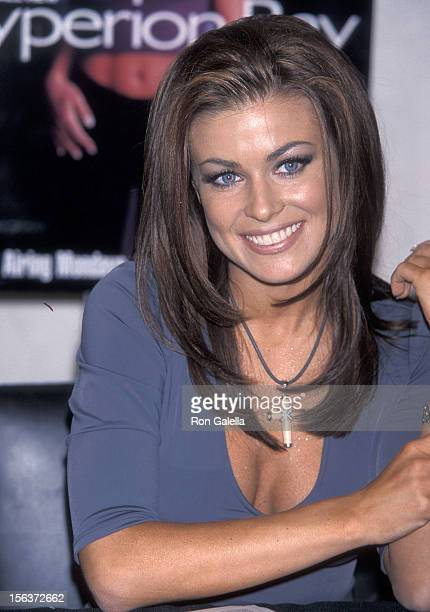 Actress Carmen Electra attends a personal store appearance to promote the WB television show Hyperion Bay on January 22 1999 at Warner Bros Studio...