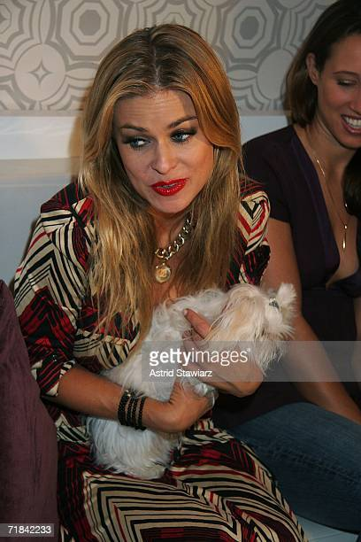 Actress Carmen Electra attends Olympus Fashion Week in Bryant Park September 10 2006 in New York City