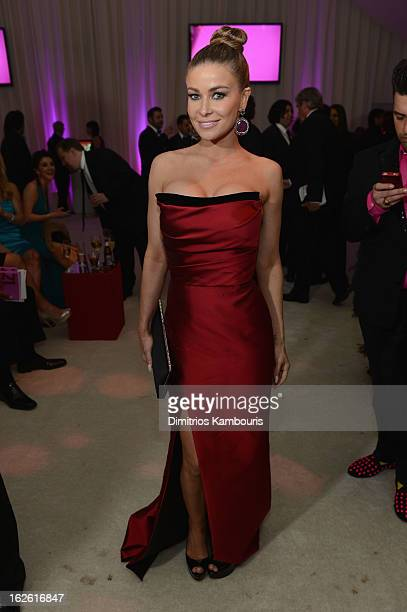 Actress Carmen Electra attends the 21st Annual Elton John AIDS Foundation Academy Awards Viewing Party at West Hollywood Park on February 24 2013 in...