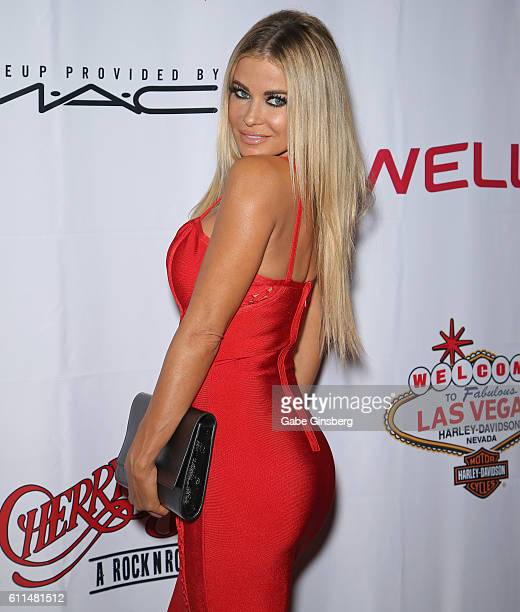 Actress Carmen Electra attends the grand opening of 'Cherry Boom Boom' at the Tropicana Las Vegas on September 29 2016 in Las Vegas Nevada