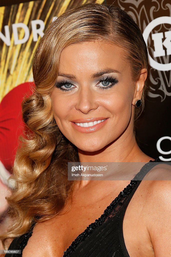 Actress Carmen Electra attends the Markus + Indrani ICONS Book Launch Party at Merry Karnowsky Gallery on January 10, 2013 in Los Angeles, California.