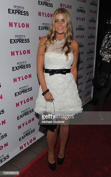 Actress Carmen Electra attends the NYLON Magazine Denim Issue Launch Party hosted by Drew Barrymore at The London Hotel on August 10 2010 in West...