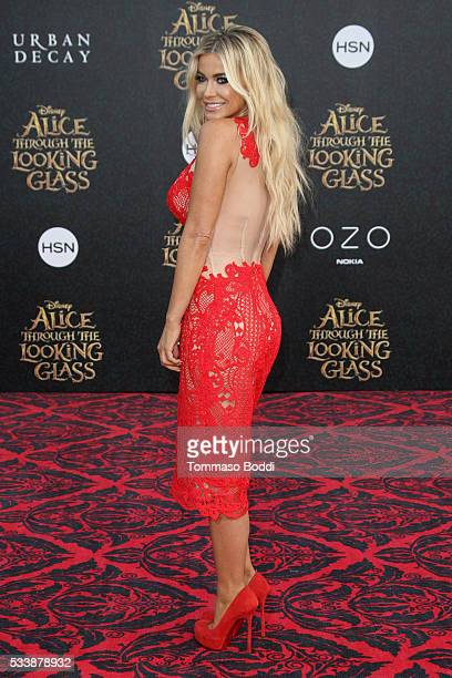 Actress Carmen Electra attends the premiere of Disney's 'Alice Through The Looking Glass' at the El Capitan Theatre on May 23 2016 in Hollywood...