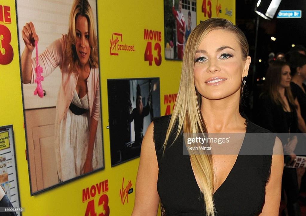 Actress Carmen Electra attends the premiere of Relativity Media's 'Movie 43' at TCL Chinese Theatre on January 23, 2013 in Hollywood, California.