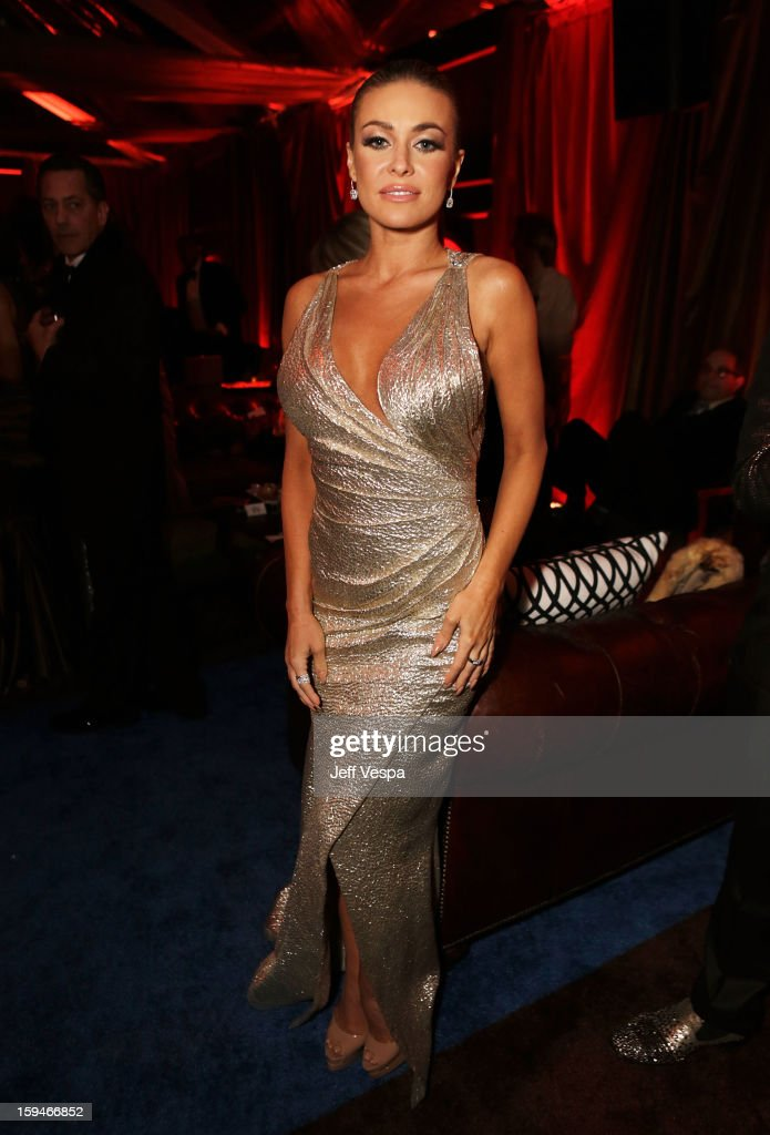 Actress Carmen Electra attends the The Weinstein Company's 2013 Golden Globe Awards after party presented by Chopard, HP, Laura Mercier, Lexus, Marie Claire, and Yucaipa Films held at The Old Trader Vic's at The Beverly Hilton Hotel on January 13, 2013 in Beverly Hills, California.