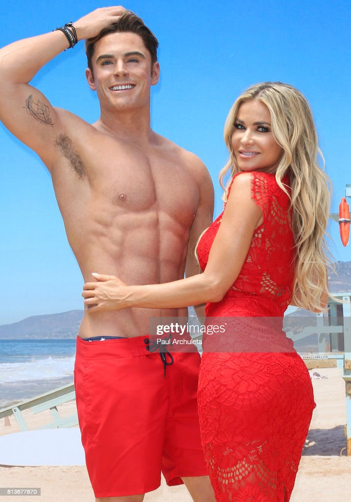 Actress Carmen Electra attends the unveiling of the Zac Efron wax figure at Madame Tussauds Hollywood on July 12, 2017 in Hollywood, California.
