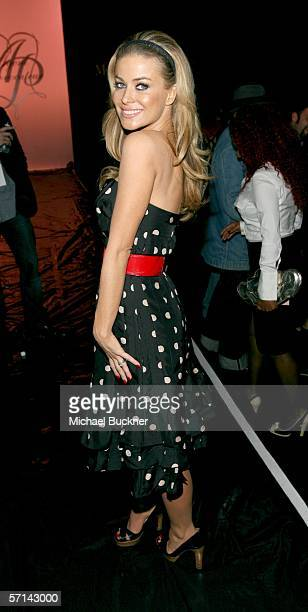 Actress Carmen Electra in the front row at the Agent Provocateur Fall 2006 show during MercedesBenz Fashion Week at Smashbox Studios on March 20 2006...