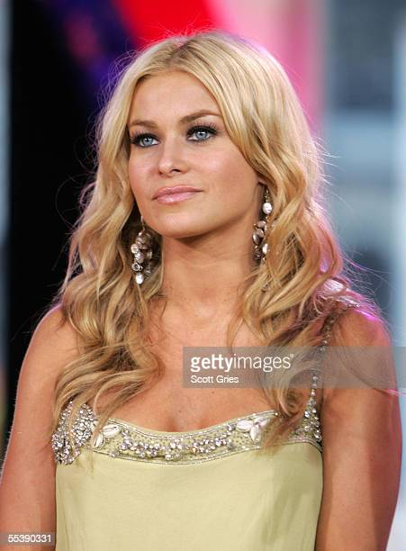Actress Carmen Electra makes an appearance on MTV's Total Request Live on September 12 2005 in New York City