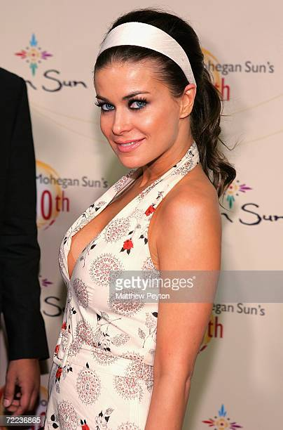 Actress Carmen Electra poses at the Afterglow party during the Mohegan Sun 10th Anniversary celebration at Ultra 88 Mohegan After Dark at Mohegan Sun...