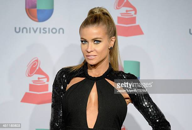 Actress Carmen Electra poses in the press room at the 14th Annual Latin GRAMMY Awards held at the Mandalay Bay Events Center on November 21, 2013 in...