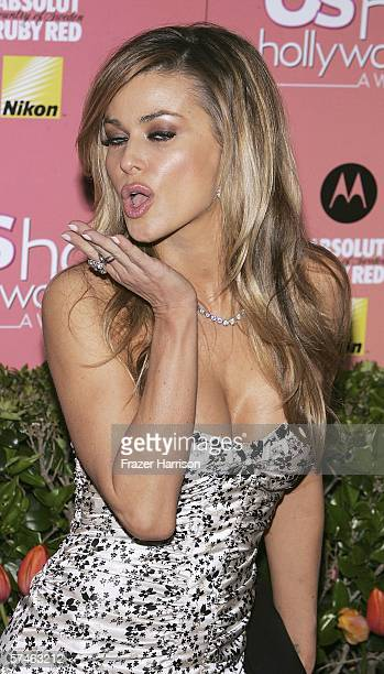 Actress Carmen Electraarrives at the US Weekly Hot Hollywood Awards party held at the Republic restaurant and lounge on April 26 in West Hollywood...