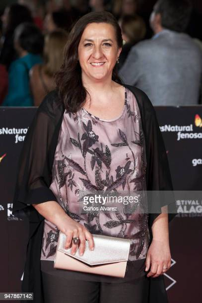 Actress Carmen Flores attends 'Las Distancias' premiere during the 21th Malaga Film Festival at the Cervantes Theater on April 17 2018 in Malaga Spain