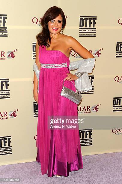 Actress Carmen Lebbos attends the Opening Night Gala After Party held at the Pearl during the 2010 Doha Tribeca Film Festival held at the Katara...