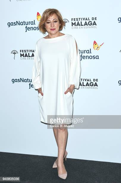 Actress Carmen Machi attends 'Proyecto Tiempo' photocall at the Albeniz Theater on April 13 2018 in Malaga Spain