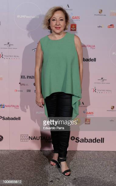 Actress Carmen Machi attends the Pablo Lopez concert photocall at Royal Theatre on July 28 2018 in Madrid Spain