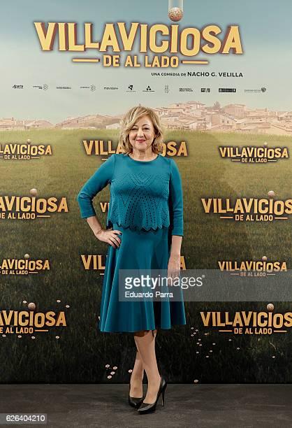 Actress Carmen Machi attends the 'Villaviciosa de Al Lado' photocall at Palacio de los Duques hotel on November 29 2016 in Madrid Spain