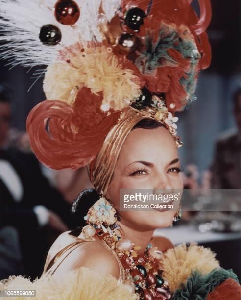 Actress Carmen Miranda in a scene from the movie That Night in Rio