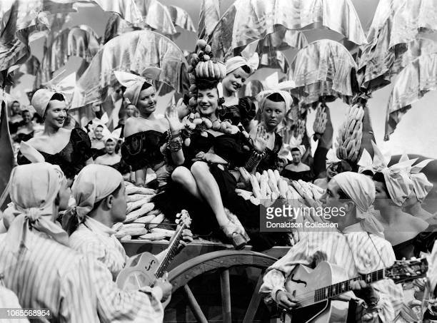 Actress Carmen Miranda in a scene from the movie The Gang's All Here