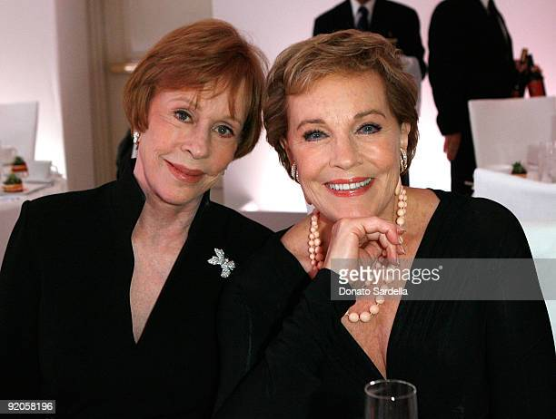 Actress Carol Burnett and L'Oreal Paris Legend Award Recipient Julie Andrews attend the 16th Annual ELLE Women in Hollywood Tribute at the Four...