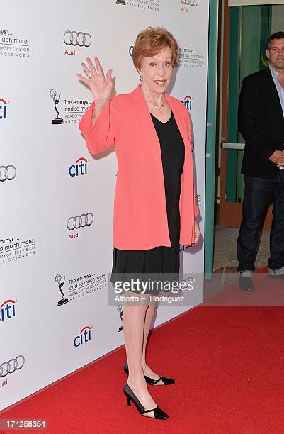 Actress Carol Burnett arrives to The Academy Of Television Arts Sciences' An Evening with Carol Burnett at the Leonard H Goldenson Theatre on July 22...