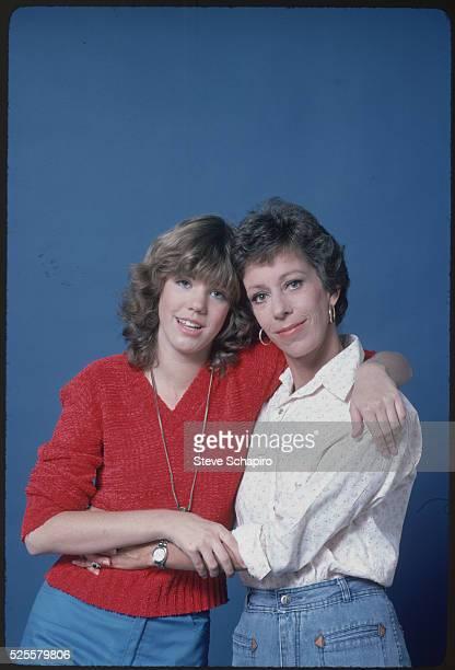 Actress Carol Burnett Hugging Daughter Carrie Hamilton