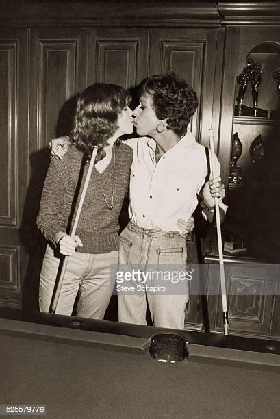 Actress Carol Burnett Kissing Daughter Carrie Hamilton
