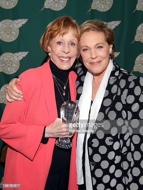 Actress Carol Burnett recipient of the Lifetime Achievement Award and actress Julie Andrews attend the 49th Annual ICG Publicists Awards at The...