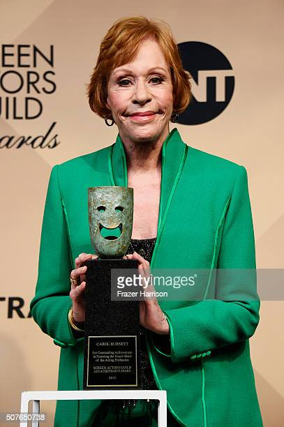 Actress Carol Burnett recipient of the Screen Actors Guild Life Achievement Award poses in the press room during the 22nd Annual Screen Actors Guild...