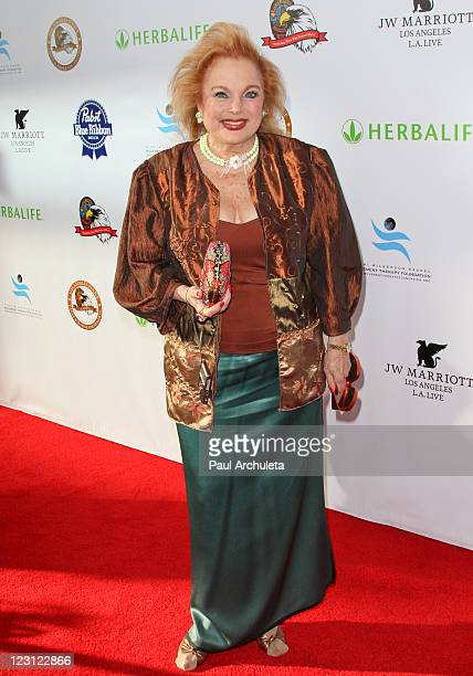 Actress Carol Connors arrives at the 2011 Eagle Badge Foundation Gala at the JW Marriott Los Angeles at LA LIVE on August 30 2011 in Los Angeles...