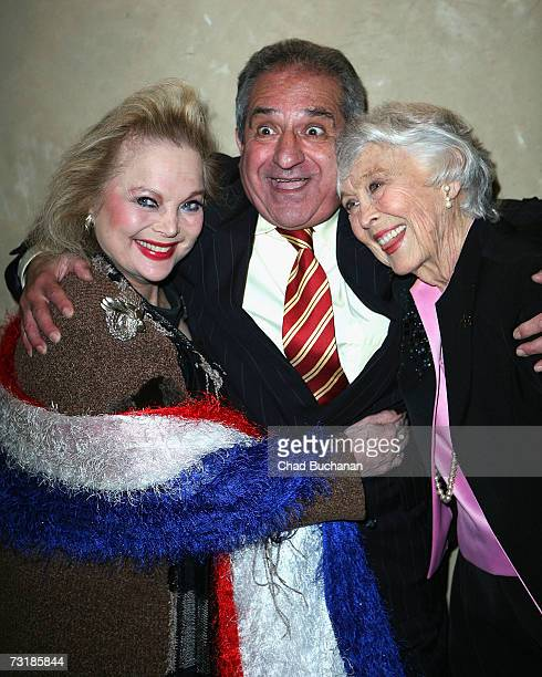Actress Carol Connors Hollywood Arts Council Trustee Oscar Arslanian and actress Betty Garrett attend the 21st annual Charlie Awards at the Roosevelt...