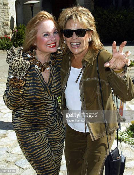 Actress Carol Connors with Martina Colette chairty spokesperson at the 9th annual Safari Brunch at the Playboy Mansion to benefit the Wildlife...