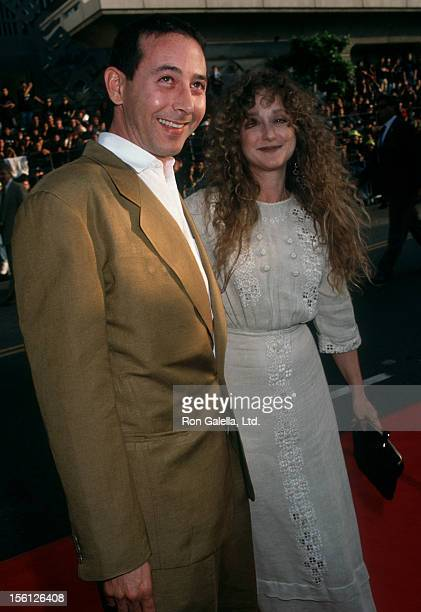 Actress Carol Kane and actor Paul Reubens attending the premiere of 'Batman Returns' on June 16 1992 at Mann Chinese Theater in Hollywood California