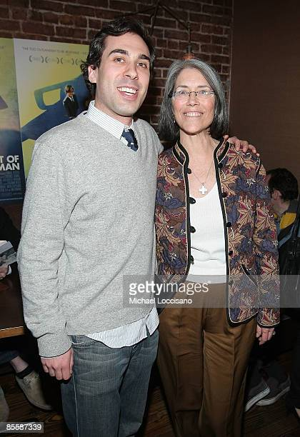 Actress Carol Potter and coproducer Benjamin Weber attend the New York premiere of Guest Of Cindy Sherman at Tailor on March 24 2009 in New York City