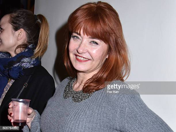 Actress Carole Anne Junchat attends the 'Polish Hope' Short Movie Screening Party at Cinema Grand Action on January 19 2016 in Paris France