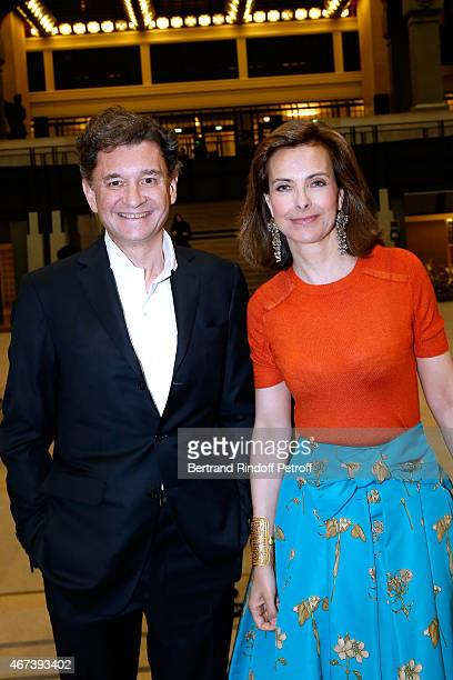 Actress Carole Bouquet and Philippe Sereys de Rothschild attend the 'Societe des Amis du Musee D'Orsay' Dinner Party at Musee d'Orsay on March 23...