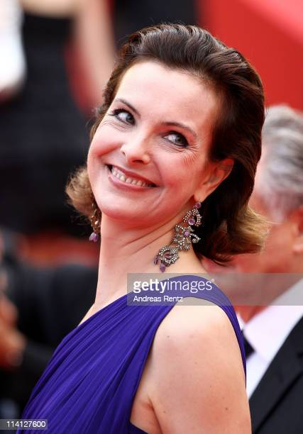 Actress Carole Bouquet arrives at the 'Sleeping Beauty' premiere during the 64th Annual Cannes Film Festival at the Palais des Festivals on May 12,...