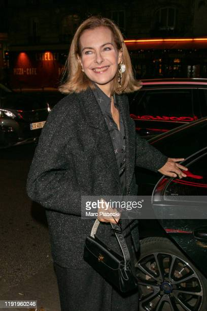 Actress Carole Bouquet arrives to attend the Chanel Metiers d'art 20192020 dinner at La Coupole restaurant on December 04 2019 in Paris France