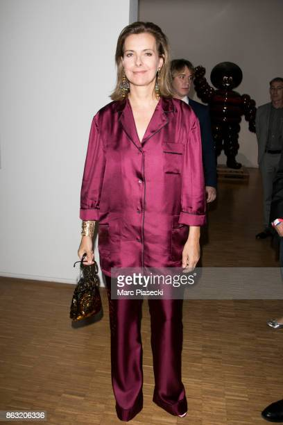 Actress Carole Bouquet attends Francesco Vezzoli party hosted by 'Les Amis du Centre Pompidou' at Centre Pompidou on October 19 2017 in Paris France