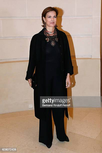 Actress Carole Bouquet attends the 'Chanel Collection des Metiers d'Art 2016/17 Paris Cosmopolite' Photocall at Hotel Ritz on December 6 2016 in...