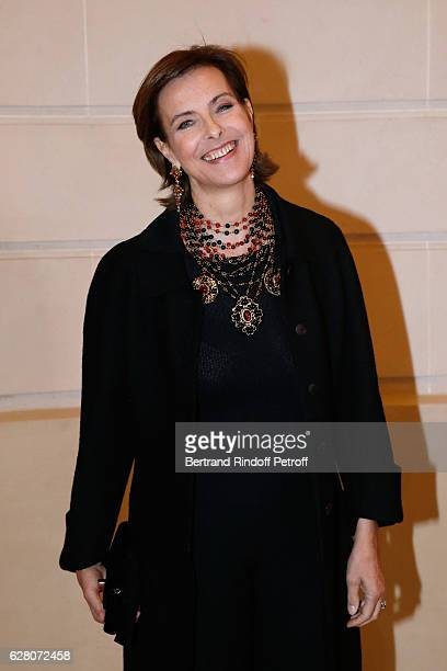 Actress Carole Bouquet attends the Chanel Collection des Metiers d'Art 2016/17 Paris Cosmopolite Photocall at Hotel Ritz on December 6 2016 in Paris...