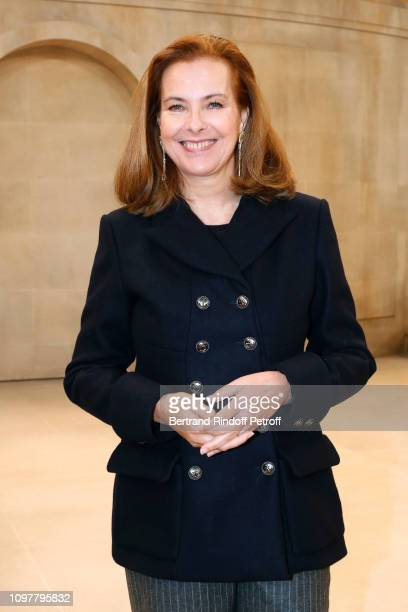 Actress Carole Bouquet attends the Chanel Haute Couture Spring Summer 2019 show as part of Paris Fashion Week on January 22 2019 in Paris France