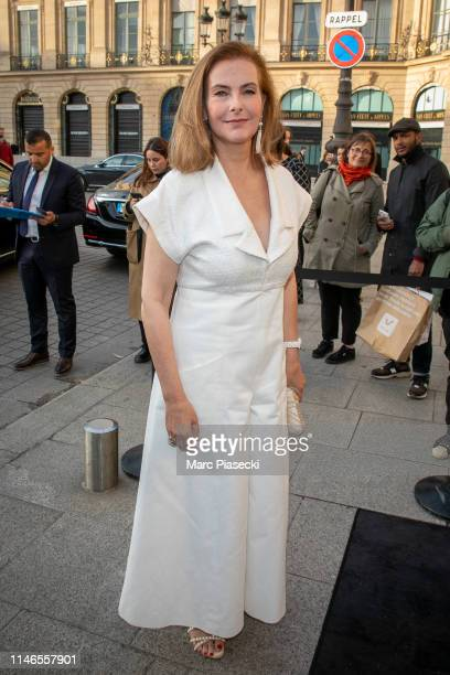 Actress Carole Bouquet attends the CHANEL J12 cocktail on Place Vendome on May 02 2019 in Paris France