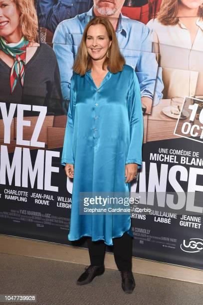 """Actress Carole Bouquet attends """"Voyez Comme On Danse"""" Paris Premiere at Cinema UGC Normandie on October 8, 2018 in Paris, France."""