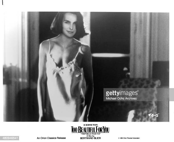 Actress Carole Bouquet in a scene from the Orion Classic movie Too Beautiful for You circa 1989