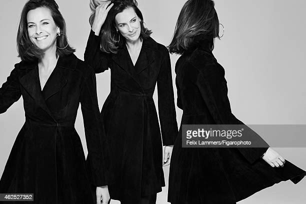 Actress Carole Bouquet is photographed for Madame Figaro on December 22 2014 in Paris France Coat earrings PUBLISHED IMAGE CREDIT MUST READ Felix...