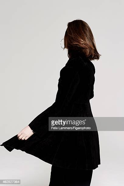 Actress Carole Bouquet is photographed for Madame Figaro on December 22 2014 in Paris France Coat earrings CREDIT MUST READ Felix...