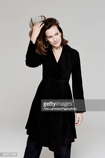 Actress Carole Bouquet is photographed for Madame Figaro on December 22, 2014 in Paris, France. Coat , earrings . CREDIT MUST READ: Felix...